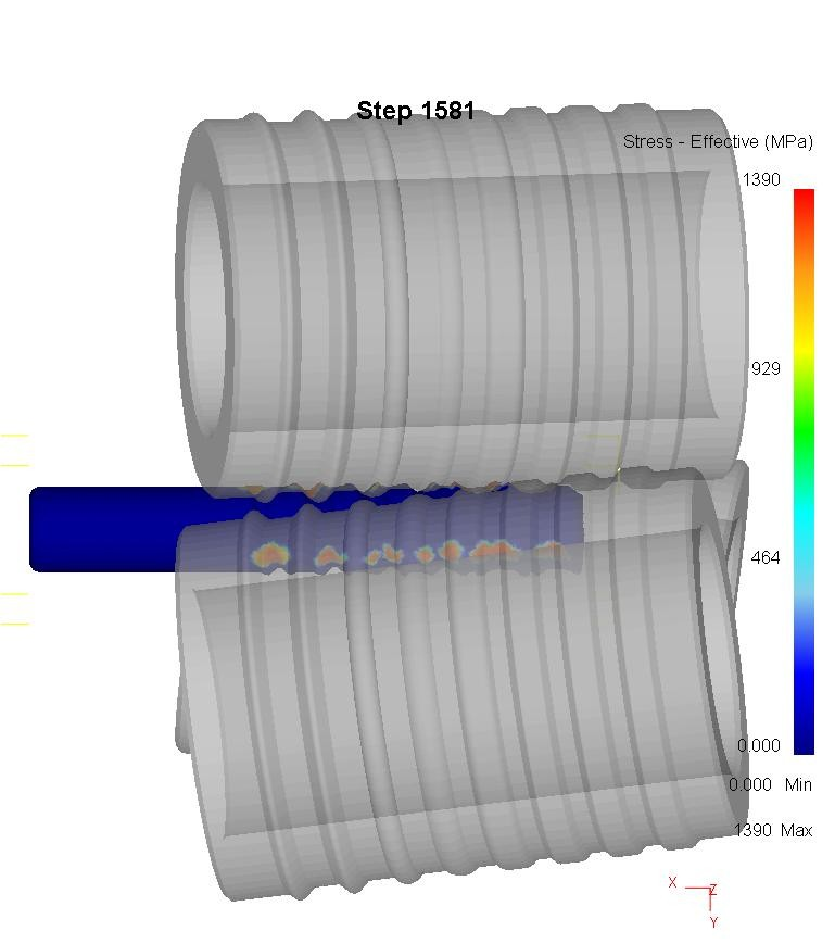 Finite elemet analysis of thread rolling